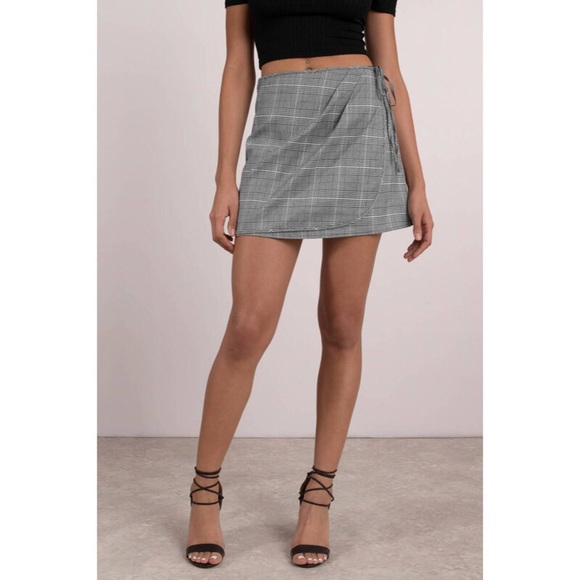 Dresses & Skirts - Plaid Wrap Mini Skirt